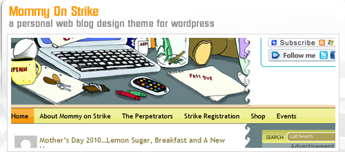 mommyonstrike website design