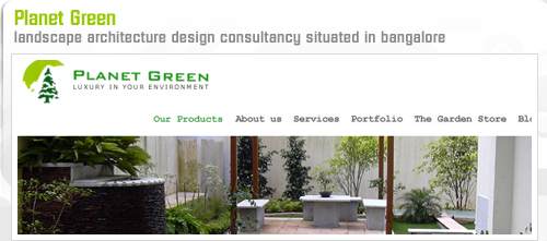 planet green website design